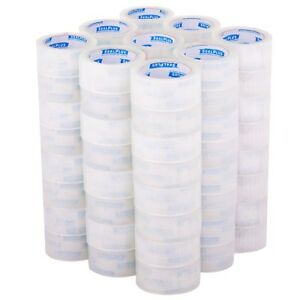 72 Rolls 2 x110 Yards 330 Ft Box Carton Sealing Packing Package Tape Clear Hot