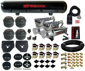C10 Air Ride Suspension Kit Chevy 1963 72 3 8 Valves Blk 7 Switch Bags Tank 580
