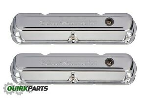 Oe Mopar Performance Chrome Plated Steel Valve Covers 273 318 340 360 P4349632ab