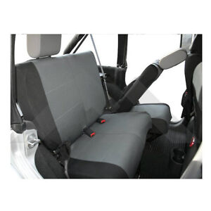 Rear Seat Covers Black gray For Jeep Wrangler Jk 2007 2011 Rough Trail Sc30221