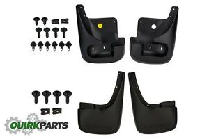 Front Rear Deluxe Molded Splash Guards Dodge Durango Chrysler Aspen Oem Mopar