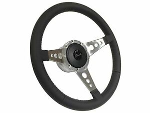 1969 1977 Chevy Chevelle S9 Leather Steering Wheel Kit 3 Spoke Holes