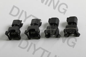 Set 4 Ev6 To Ev1 Fuel Injector Connector Adapter Uscar Ls2 Ls3 Lsx Ls1 Lt1 Tpi