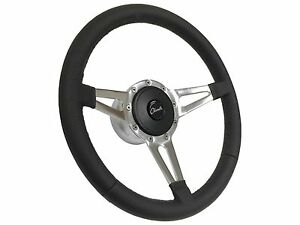1969 1977 Chevy Chevelle S9 Leather Steering Wheel Kit Slotted 3 spoke