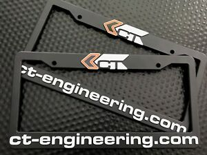 Ct Engineering License Plate Frame set Of 2 Acura Honda