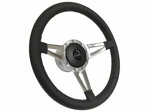 1969 1989 Chevy Camaro S9 Premium Leather Steering Wheel Kit Slotted 3 spoke