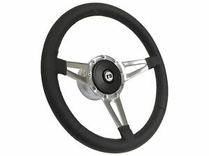 1967 1968 Camaro Rally Sport S9 Leather Steering Wheel Kit Slotted 3 spoke