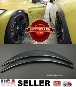 1 Pair Carbon Effect 1 Diffuser Wide Body Fender Flares Extension For Ford