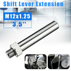 3 5 M12x1 25 Stainless Shift Knob Extension Shifter Lever Extended Sliver