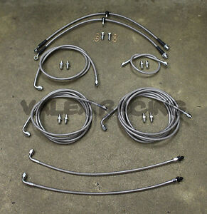 Complete Front Rear Brake Line Replacement Kit 97 01 Honda Crv Without Abs