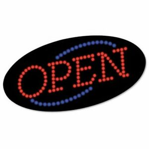 Cosco Led Open Sign 10 1 2 X 20 1 8 Red Blue Graphics cos098099