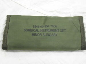 Us Military Surgical Instrument Set Complete minor Surgery