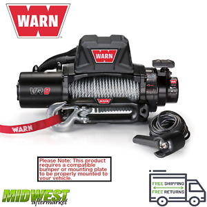 96800 Warn Vr8 8000 Lb Self recovery Electric Winch With 94ft Of Wire Rope