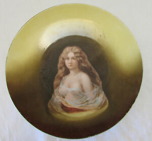 Vintage Victoria Carlsbad 9 1 2 Inch Hand Painted Nude Portrait Decorative Plate