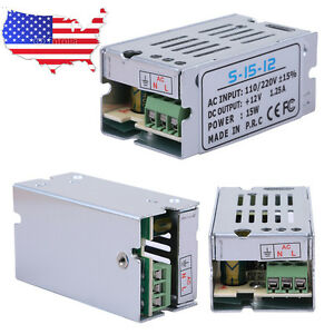 Dc 12v 1 25a Universal Regulated Switching Power Supply Adapter Ac 110 220v Us
