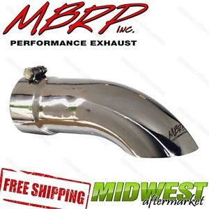 Mbrp Stainless Steel Turn Down Exhaust Tip 3 5 Inlet 3 5 Outlet 12 Length