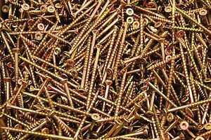 2000 Torx T25 Star Flat Head 9 X 3 Yellow Zinc Type 17 Outdoor Wood Screw Bulk