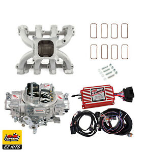 Ls1 Carb Intake Kit Edelbrock Victor Jr msd 6014 Ignition quickfuel 750 Carb