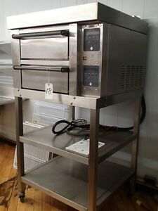 Garland 2 Deck Pizza Oven Mc e20 2s Air Cell impingement 208 240v 1ph Or 3ph