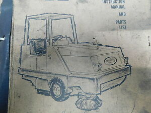 Tennant 92 Power Sweeper Service Shop Operation Repair Parts Manual e16 2097