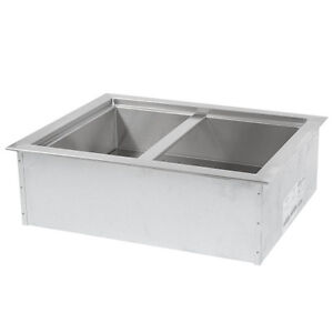 Apw Wyott Icp 200 Two Pan Drop In Ice Cooled Cold Food Well