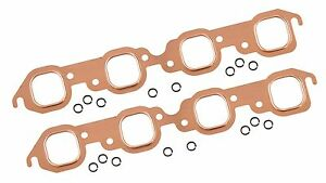 Maxx 158 Copper Exhaust Header Gaskets 1965 1974 Big Block Chevy V8 Square Port