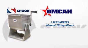 Omcan Mssmr44 t 19203 Manual Tilting Restaurant Meat Mixer With 44 Lb Tank