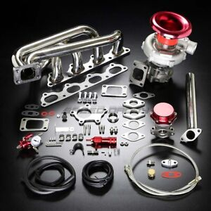 B20 B23 B230 T04e Stage Ii Turbo Charger Manifold Upgrade Kit For 89 Volvo 16v
