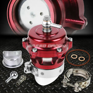 50mm Aluminum Red Turbocharger 360 Vent Blow Off Valve Bov 35psi Boost Flange