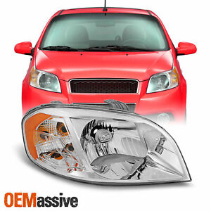 Fit 2007 2008 2009 2010 2011 Chevy Aveo 4 Door Sedan Passenger Side Headlight