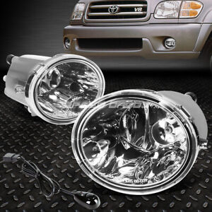 For 00 06 Toyota Tundra 01 07 Sequoia Clear Lens Bumper Fog Light Lamp W Switch