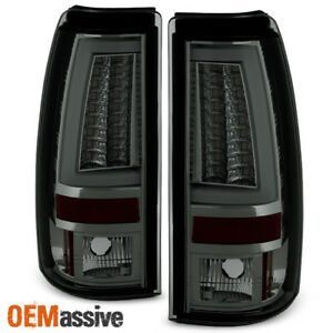 Fits 2003 2006 Chevy Silverado Gmc Sierra 1500 2500hd 3500 Smoke Led Tail Lights