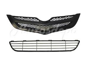 For Toyota 2007 2008 Yaris Sedan Grille Front Bumper Lower Grille Center 2pcs