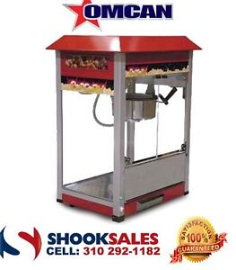 Omcan 40385 Vbg802 Stainless Steel Commercial Popcorn Machine 8 Oz Call Deal