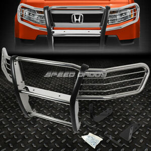 For 03 11 Honda Element Y1 h1 Chrome Stainless Steel Front Bumper Grill Guard