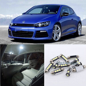 Error Free White 10x Lights Smd Led Interior Light Package For Vw Scirocco 3r E