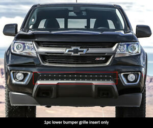 Fits 2015 2020 Chevy Colorado Bumper Stainless Steel Black Rivet Mesh Grille
