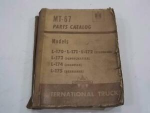 Vintage International Trucks Mt 67 Parts Catalog Models L 171 172 173 174 175