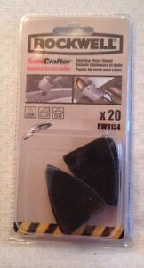 Rockwell Rw9154 Sonicrafter 220 Grit Sanding Sheet For Sanding Finger 20 piece