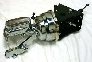 66 77 Ford Bronco Chrome Power Booster Milled Master Cylinder