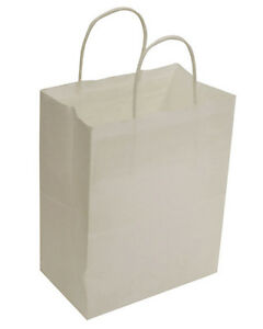 Recycled Wholesale Paper Shopping Bags Merchandise Store White Lot Of 250 New