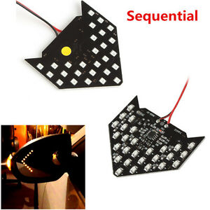 2x Super Yellow 33 Smd Sequential Led Arrows Car Side Mirror Turn Signal Lights