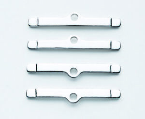 Mr Gasket 9817 Valve Cover Hold Down Spreader Tabs Clamps Chrome Long Set Of 4