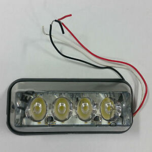 Buyers 8891006 Snowplow 4 Led Clear Strobe Light 4 7 8 Inch 12 36 Volt
