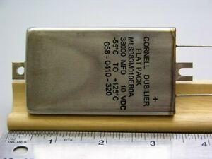 Cornell Dubilier Mls383m010eb0a 38000uf 10vdc Flatpack Electrolytic Capacitor