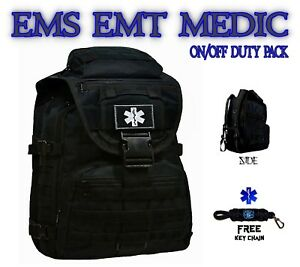 Emt Medic Ems Backpack Duty Bag Star Of Life First Aid Kit Free Key Chain