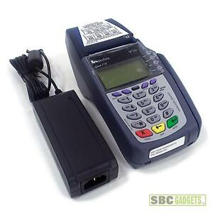 Verifone Omni 5100 3730 vx510 Pos Credit Card Terminal With Power Adapter