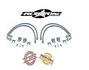 Rubicon Express Front Rear Ss Brake Line Set For 07 18 Jeep Wrangler Jk Re1512