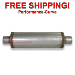 Performance Muffler Stainless Steel 2 5 C c 6 Round 18 Body