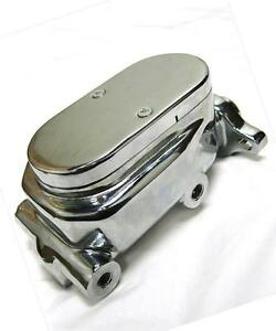 Chrome Aluminum Smooth Flat Top Brake Master Cylinder With 1 Bore Gm Street Rod